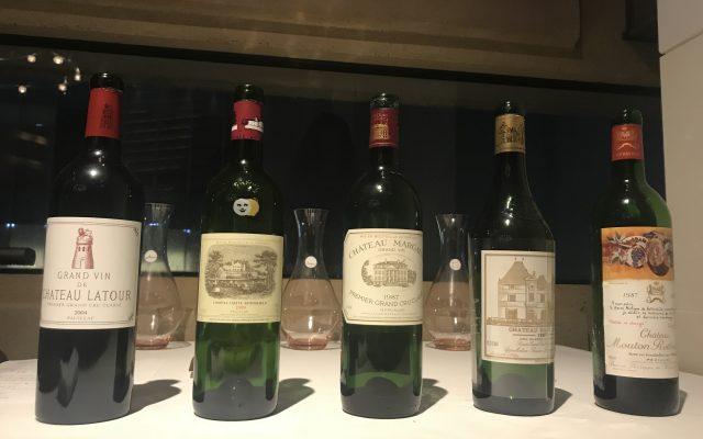 【東京&大阪同時募集】ボルドー五大シャトー&フランス五大白ワインのマリアージュ