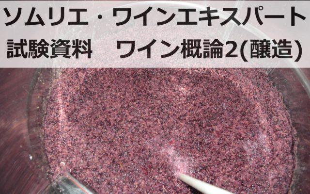 【2019年】ワイン概論3(ワインの醸造)