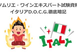 【2020年】徹底暗記:イタリアD.O.C.G.|ソムリエ・ワインエキスパート試験